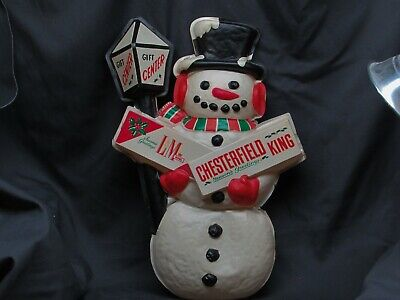 Snowman 3D Chesterfield Advertising Gift Center Vintage Store Display