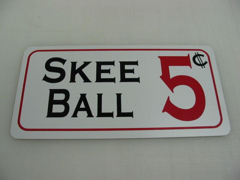 SKEEBALL Metal Sign Fair Carnival Amusement Park Boardwalk Ski Skee ball