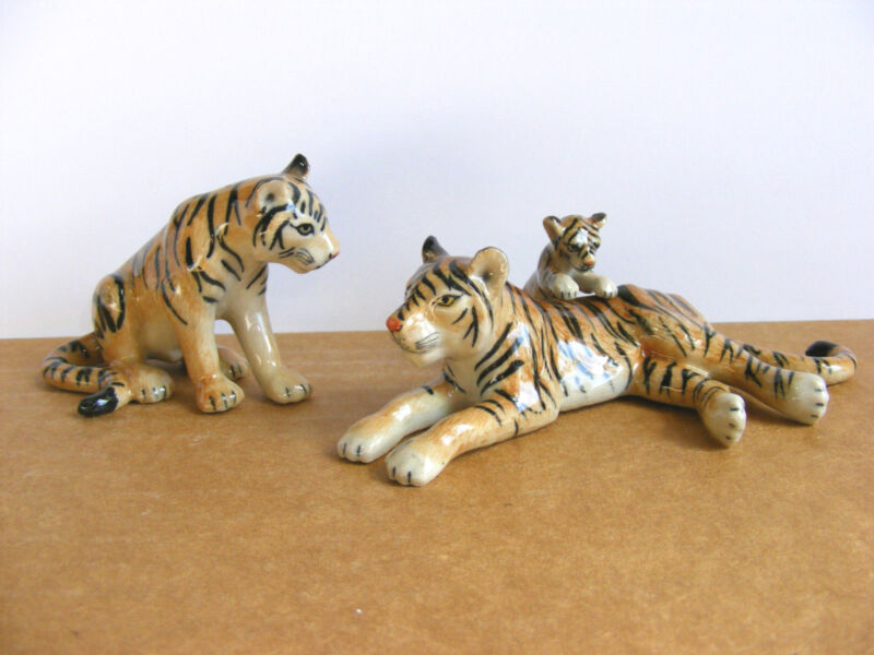 Klima Tiger Family Miniature Animal Figurine Wildlife Cat