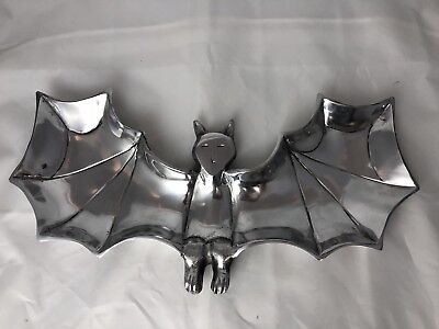 Bat Shaped Metal Platter Dish Kitchen Halloween Party Gothic Punk Serving Tray  - Serving Platters Halloween