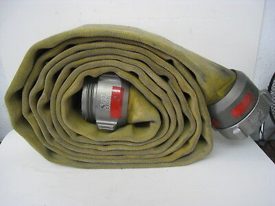 Action Usa 4 Fire Hose With Male Female Couplings Wide Yellow Firefighting 2