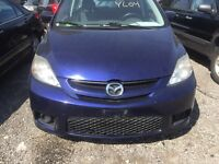 Blue 2007 Mazda 5 for parts