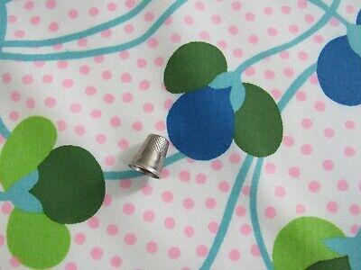 BTY Cotton Blend Fabric MOD Pink & Blue Polka Dots Vtg 1970 Klopman -