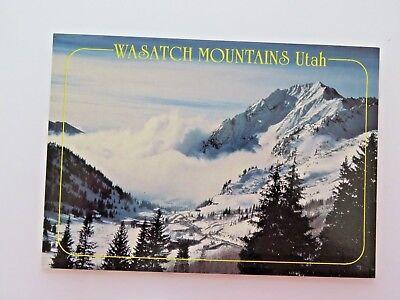 Vintage Postcard Wasatch Mountains Utah Old  5833
