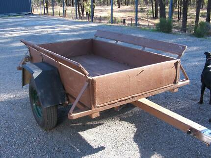 Vintage Wooden Trailer Maryborough Central Goldfields Preview