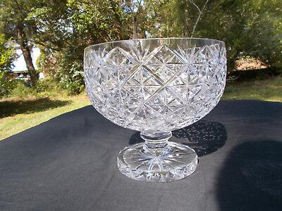 Anglo-Irish Cut Glass Bowl - Beautiful, Large, Heavy. c.1890