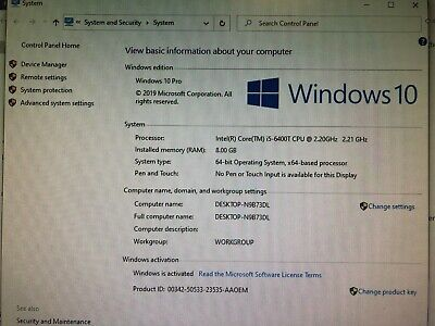 ACER PC Veriton N4640G (128GB SSD, i5-6400T CPU @ 2.20GHz, 8GB RAM) Win 10 Pro