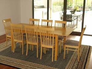 High Quality Italian Made Dining Table Chairs And Buffet Beech