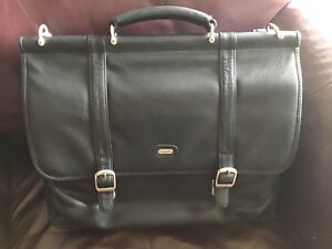 New Black leather lap top bag