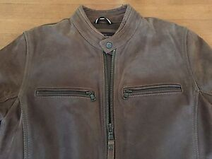 Modern Fit Brown Leather Jacket, Like New, Size S Reduced !