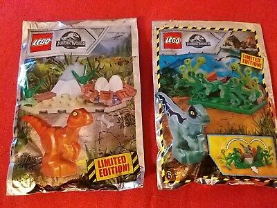 Lego Jurassic World Limited Edition Foil Pack x 2 Age 3+