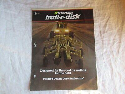 Steiger 3300 3400 Trail-r-disk Cultivator Tillage Brochure