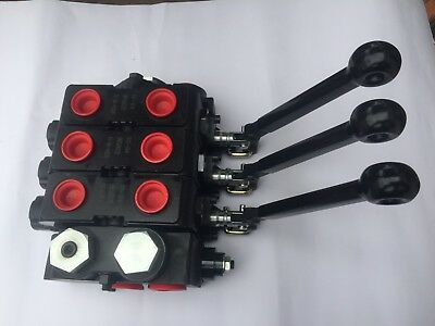 Parker Gresen Hydraulic Valve V20 3 Section Double Acting Cylinder Spool