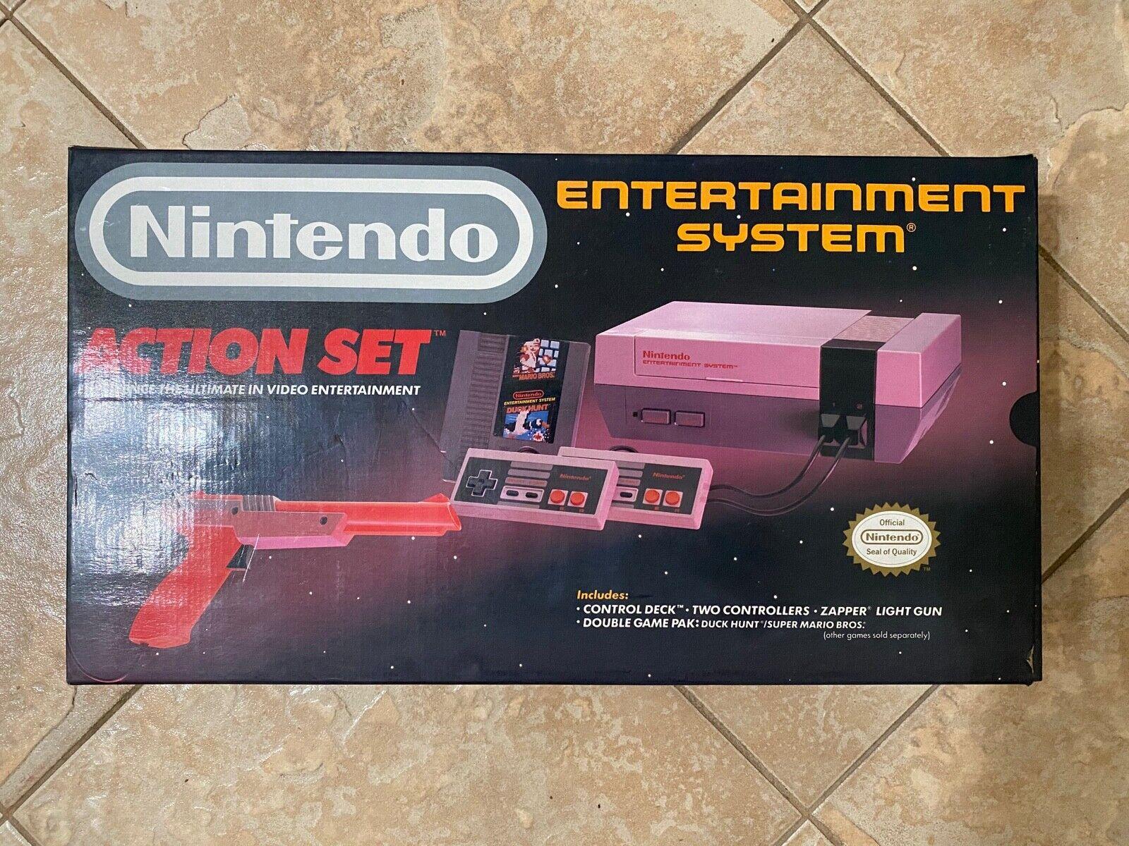 ORIGINAL NES NINTENDO CLASSIC EMPTY BOX W/ ORIGINAL MANUAL BAGS STYROFOAM POSTER - $152.50