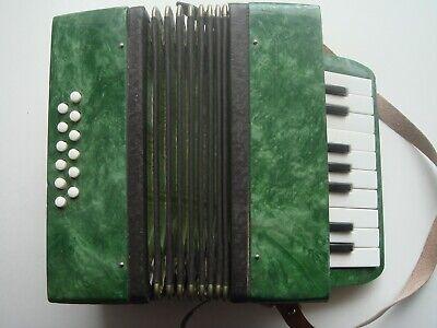 Soviet Vintage Music Small Instrument  Accordion 17 keys for kids