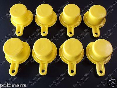 8-pk Blitz Yellow Spout Caps Mr Yellow Cap Blow Out Sale 900092 900094 900302