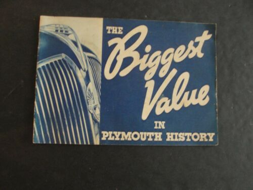 The Biggest Value In Plymouth History (PB, 1936)