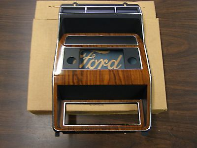(NOS OEM Ford 1982 1983 1984 F150 Truck Bronco Center Dash Bezel Pickup Woodgrain)