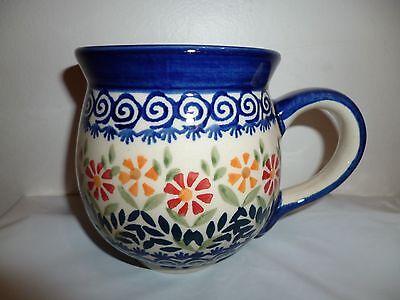 Polish Pottery Stoneware Bubble Mug Manufaktura Floral NEW