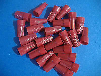 25 Gardner Bender Red Uni-lok Wire Connectors Usa Twist On Conical Nut Nuts