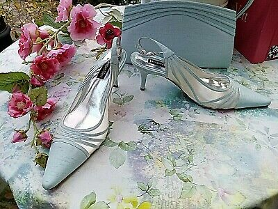 LADIES JACQUES VERT BRAND NEW AQUA SHOES AND MATCHING BAG SIZE UK 8 EUR 41