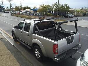 Tradesman rack / Ladder rack set - Nissan D40 Navara - Black P/C Mermaid Beach Gold Coast City Preview