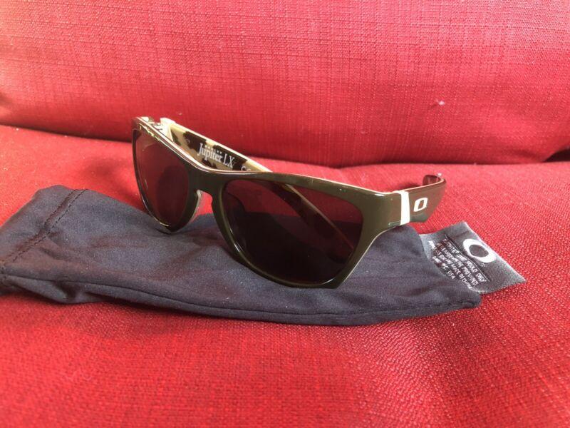 New Oakley Jupiter LX Sunglasses Olive Green/Dark Grey 03-286