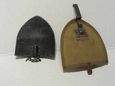 1910 Cavalry Shovel  head. with canvas sheath.   no picket pin