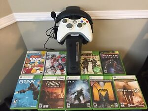 XBOX 360 For $110 Comes with 10 Games, Controller, Headset