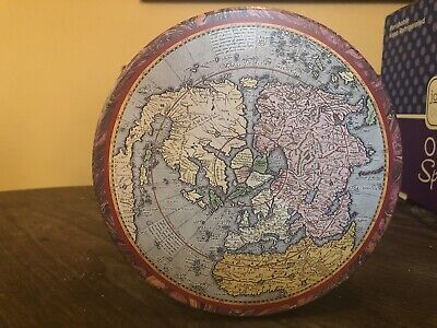 Vintage Vincenzo International Empty Tin/Can Used 1992 Map