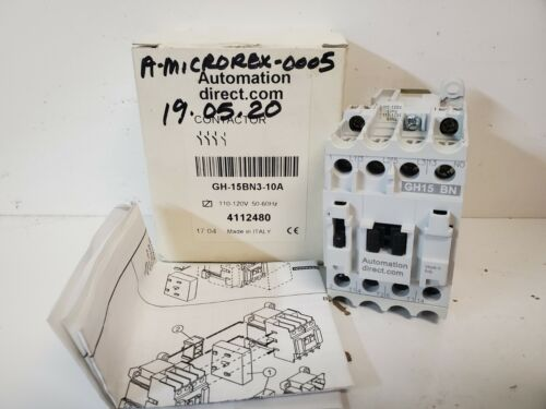 NEW IN BOX! AUTOMATION DIRECT 110/120V COIL CONTACTOR GH15BN-3-10A