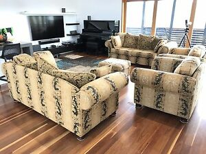 Lounge Suite /Sofa / Couch Morgan Aus Made 8 Seat + foot stool. Auchenflower Brisbane North West Preview