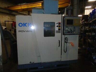 Okk Pcv-40 Vertical Cnc Mill 1999 Mitsubishi 600m Control With Tsudakoma Indexer