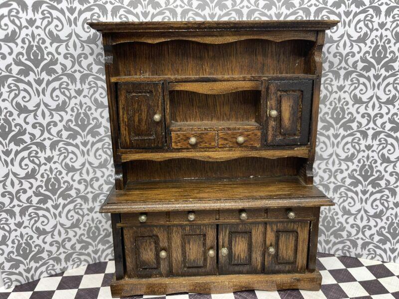 Dollhouse wood vintage Rustic Hutch