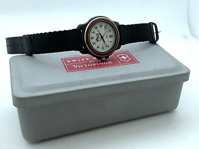 VICTORINOX Swiss Army Field Stainless Steel 39mm INTEL Metal Box Papers SERVICED