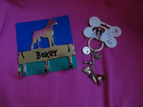 Boxer Dog Key Chain and Leash Holder