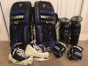 Goalie hockey gear + bag