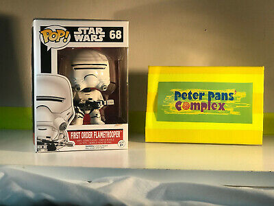 Funko Pop Star Wars #68 First Order Flametrooper w/ Pop Protector
