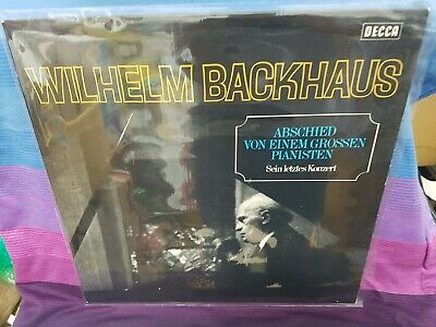 WILHELM BACKHAUS LAST PIANO RECITAL DECCA SXL 20090 1st LABEL