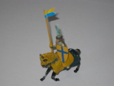 Timpo Lead Medieval Knight; Mounted Round Table Knight Crusader; Train Layout