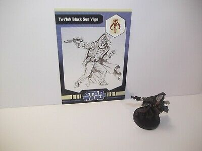 Star Wars Miniatures Twi'lek Black Sun Vigo 37/40 + Card - IE