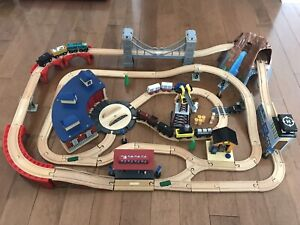 Wooden train set - Imaginarium       $70 obo