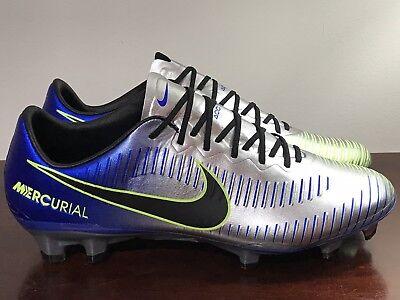 df1a62c27 Nike Mercurial Vapor Neymar XI NJR FG ACC Blue Silver Cleats 921547-407 Size  7