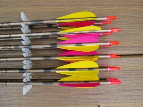 (12) Vintage Easton GGII 1816 Arrows w/Feathers
