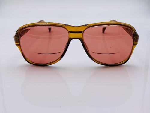 Vintage Viennaline 1237 11 Amber Brown Aviator Sunglasses Austria FRAMES ONLY