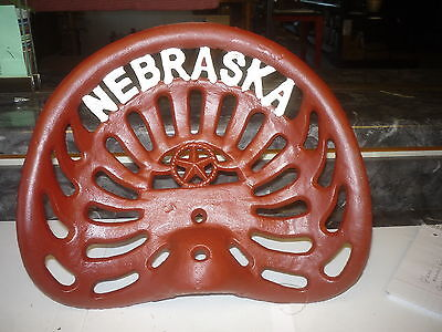 CAST IRON FARM BAR STOOL GARDEN SEAT   NEBRASKA   HUSKER  RED