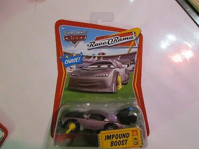 DISNEY PIXAR WORLD OF CARS RACE O RAMA IMPOUND BOOST #75 CHASE CAR with boot