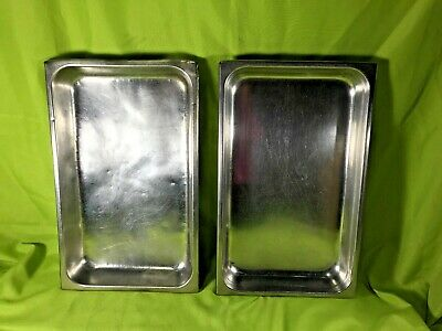 Vollrath Stainless Steel Full Size Steam Table Pans 2.5 Deep 2002-5 Lot Of 2
