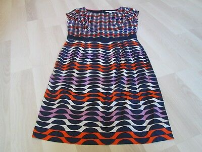 BODEN Silky Multicoloured  Kensington Dress SIZE 10L  -