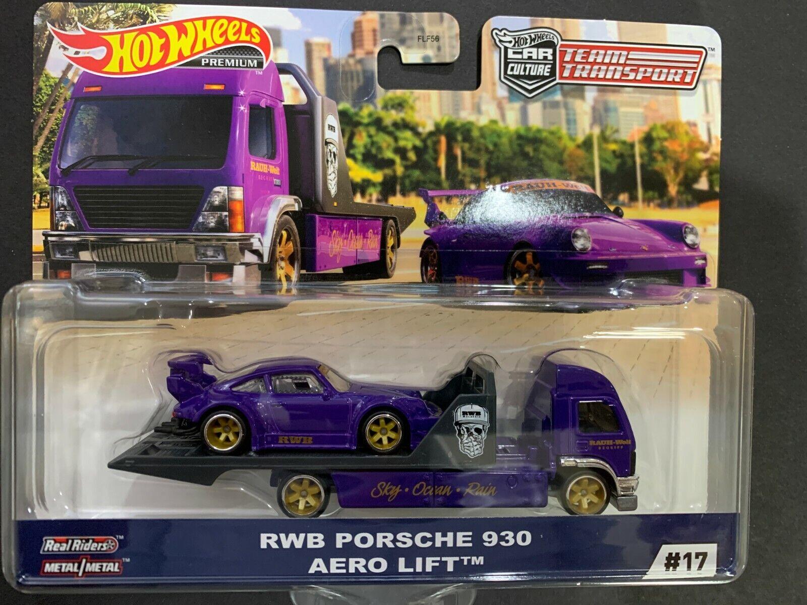 NEW 2020 Hot Wheels Car Culture Team Transport G Case RWB Porsche 930 Aero Lift